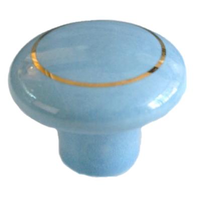 Boton azul con oro