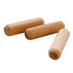Taquete de madera ranurado